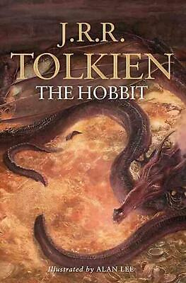 The Hobbit Illustrated by J.R.R. Tolkien Paperback Book Free Shipping!