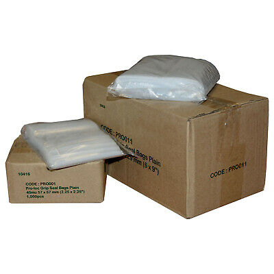 Plain Resealable Polythene Grip Seal Bags 20 Sizes