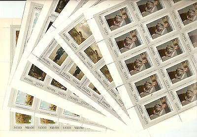 USSR 1971...n° 3766-71...MNH ** YT 60€...HISTORY OF RUSSIAN PAINTING (6 SHEETS)