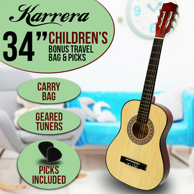New Natural Childrens Acoustic Guitar Ideal Kids Gift