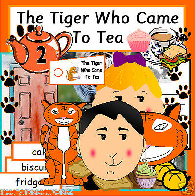 THE TIGER WHO CAME TO TEA story RESOURCES teaching CD resource sack  KS1 EYFS