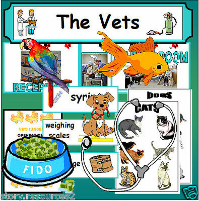 VETS Teaching Resources VETERINARY SURGERY Roleplay resource KS1 EYFS NQT SEN CD