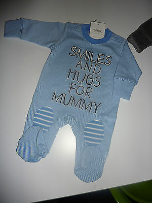 NEXT Really Cute SMILES AND HUGS FOR MUMMY Sleepsuit Up to 1 Month NWT