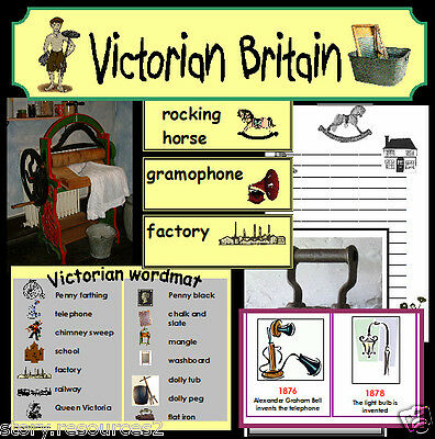 VICTORIAN Primary teaching resources TOYS HOMES WORK History Resource KS1 KS2