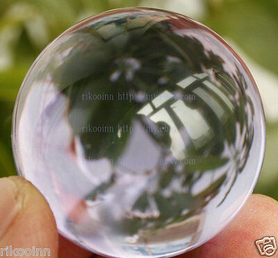 40mm Awesome Ultra Clear Purple Glass Quartz Crystal Sphere Ball