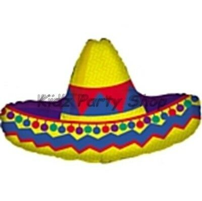 "Mexican Fiesta Birthday Party - 33"" Sombrero Foil Balloon - MAX POSTAGE £5 UK"