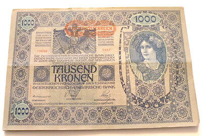Lot Of 25 1000 Kronen 1902 Austria Hungary Bank Notes