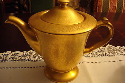 PICKARD Gold Plated Embossed Teapot