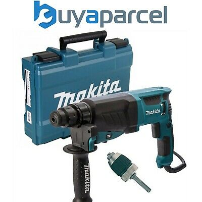 Makita 240v SDS + 3 Mode Rotary Hammer Drill HR2630 Heavy Duty + Chuck + Adaptor