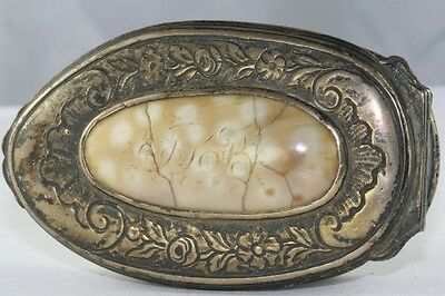 Antique Late 1700's To Early 1800's Hand Made From Sterling Spoons Snuff Box