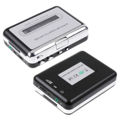 USB Cassette-to-MP3 Converter Capture Tape to PC Audio Music Player