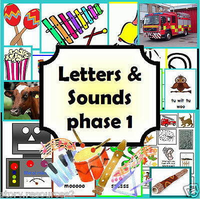 LETTERS AND SOUNDS CD  PHASE 1 Primary teaching resources KS1 EYFS Resource cd
