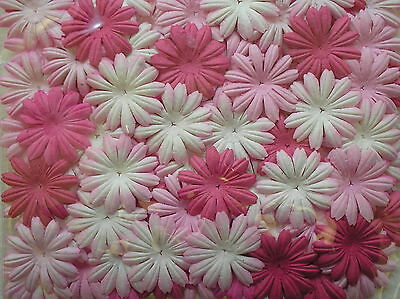 50 or 100 MISS DAISY flowers 45 mm CHOICE OF COLOURS mulberry paper CRAFTY COW