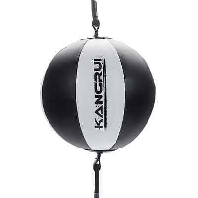 HOT Double End Muay Thai MMA BoxingS Punching Bag Speed Ball Black #Y538