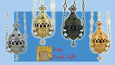 Orthodox Vigil Lamp Oil Candle Metal Cup Cross Design Ewiglicht Ikonenampel