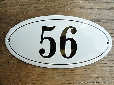 Antique Style Enamel Door Number 56 House Number Door Sign Plaque
