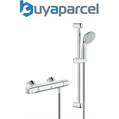 GROHE 1000 G1000 Thermostatic Bar Mixer Shower + Tempesta Riser Rail