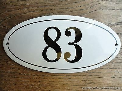 Antique Style Enamel Door Number 83 House Number Door Sign Plaque