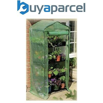 Gardman 4 Tier Growhouse Mini Garden Plant Greenhouse Reinforced Cover 08718