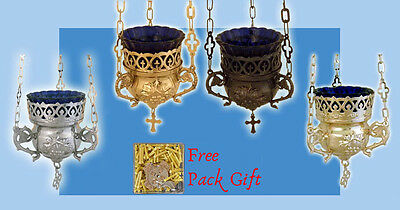 Orthodox Vigil Lamp Grapes Design Orthodoxe Ikonenampel Weinreben +Free Wicks