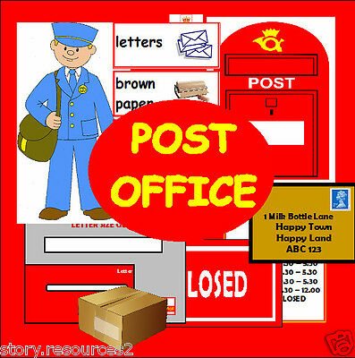 POST OFFICE ROLEPLAY teaching resources ks1 eyfs nqt sen role play resource cd