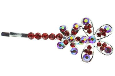 Colorful Flower with Rhinestones Hair Accessory Hair Clips 12 pcs Unique Cool