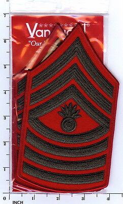 Master Gunnery Sergeant Chevrons E-9 For Male Khaki Shirt Selected Material Other Militaria Us Marine Corps