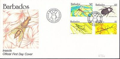 1990 Barbados Insects Unaddressed First Day Cover FDI Postmark Ref: H384