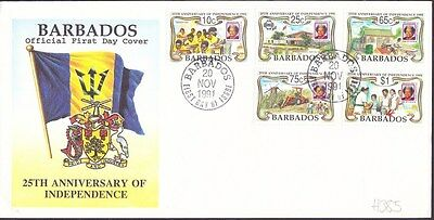 1991 Barbados Independence Unaddressed First Day Cover FDI Postmark Ref: H385