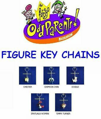 Nickelodeon Retired Fairly Oddparents Keychain Backpack Zipper Pull Mini Figures