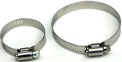 Pair Super Stainless Steel Ducting Clamps Hose 4 6 10 Inch AC Hydroponic 8