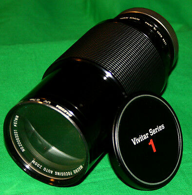 Vivitar Series 1 VMC 70-210mm f/2.8-4 Macro Zooming SLR Camera Lens + UV Filter