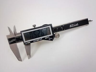 "4"" IP54 Electronic Digital Caliper Fractional, SAE, Metric Lrg LCD Stainless iGa"