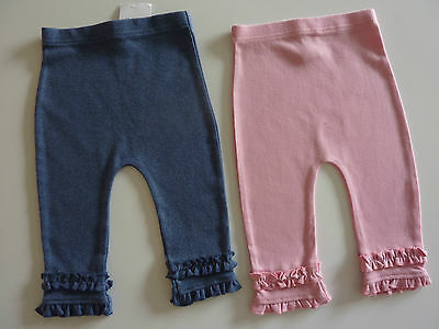 NEXT 2 Really Cute Little Pairs Pink and Blue Leggings NWT
