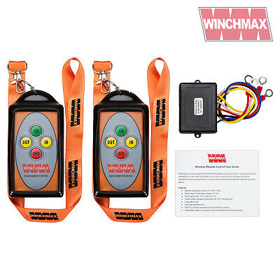 WINCHMAX WINCH REMOTE WIRELESS TWIN HANDSET*12 VOLT or 24 VOLT*BRAND NEW DESIGN