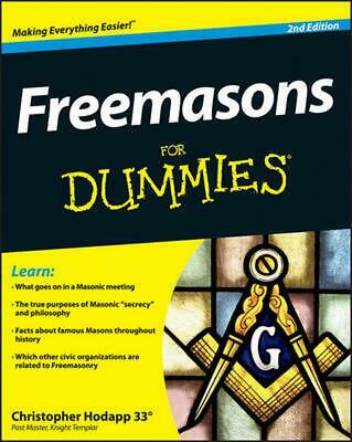 Freemasons For Dummies by Christopher Hodapp (English) Paperback Book Free Shipp