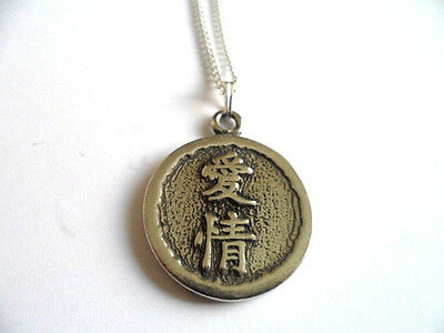 Love, Wisdom of China pewter pendant