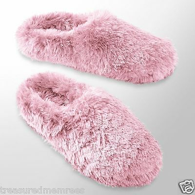 SO Plush Clog Slippers Scuffs  ~  Size Medium (7-8) ~ Pink ~ New With Tags