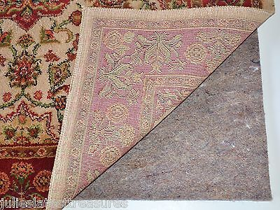 MULTIPLE SIZES AREA RUG PAD NON-SKID Durable Reversible for Hard Surfaces/Carpet