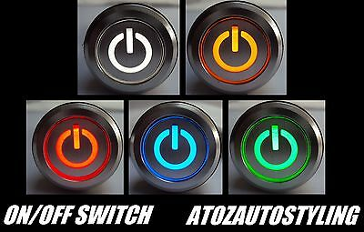 Savage Push Button On/Off Switch 12V Latching LED Kit Car <<5 COLOURS>>