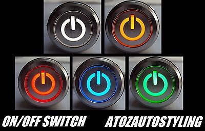 Savage Push Button On/Off Switch 12V Latching LED Kit Car   5 COLOURS