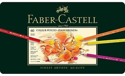 Faber Castell  Polychromos Artists Quality Colour Pencils  60 Set - Bnib