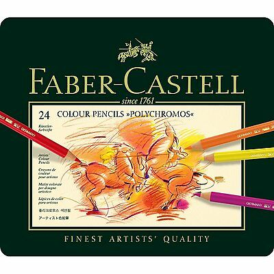 Faber Castell  Polychromos Artists Quality Colour Pencils - 24 Set