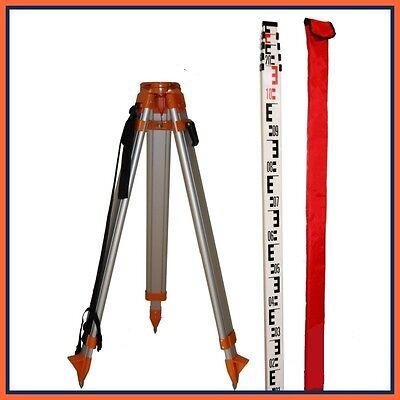 Datum Tripod & Levelling Staff Kit For Use With Rotating Lasers & Optical Levels