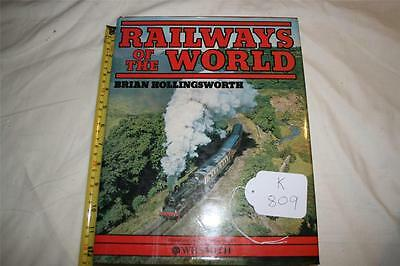 book on train railways of the  the world hard cover good reading [k809]