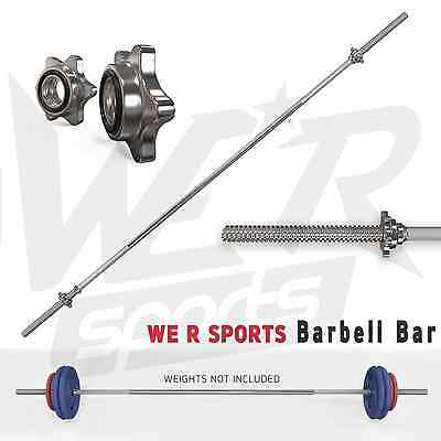 """5Ft Barbell Bar Weight Lifting Spinlock Collars Home Gym Fitness Ez 1"""" Barbell"""