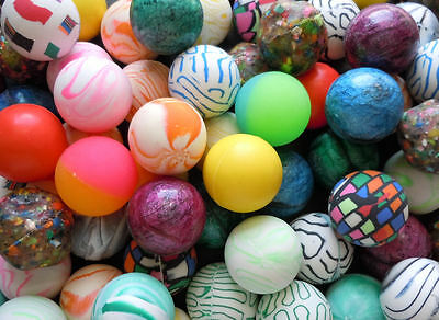 25x Rubber BOUNCING BALLS - Assorted Wholesale Bulk Lot of Bouncy - BRAND NEW!