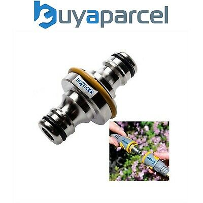 Hozelock 2044 Pro Metal Double Ended Male Garden Hose Pipe End Connector