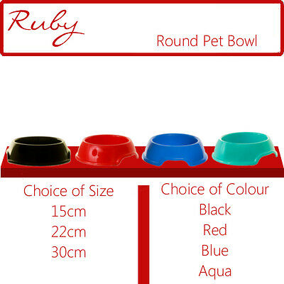 Animal Food And Water Bowl Feed Feeder Round Pet Cat Dog Puppy Rabbit