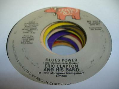 Rock 45 ERIC CLAPTON AND HIS BAND Blues Power on RSO
